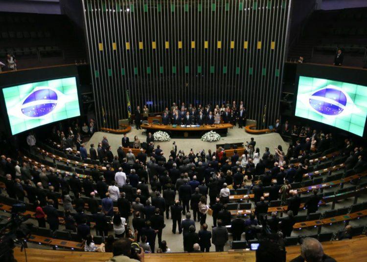 Solenidade de abertura do Ano Legislativo do Congresso Nacional. Presenca do ministro da Casa Civil, Eliseu Padilha