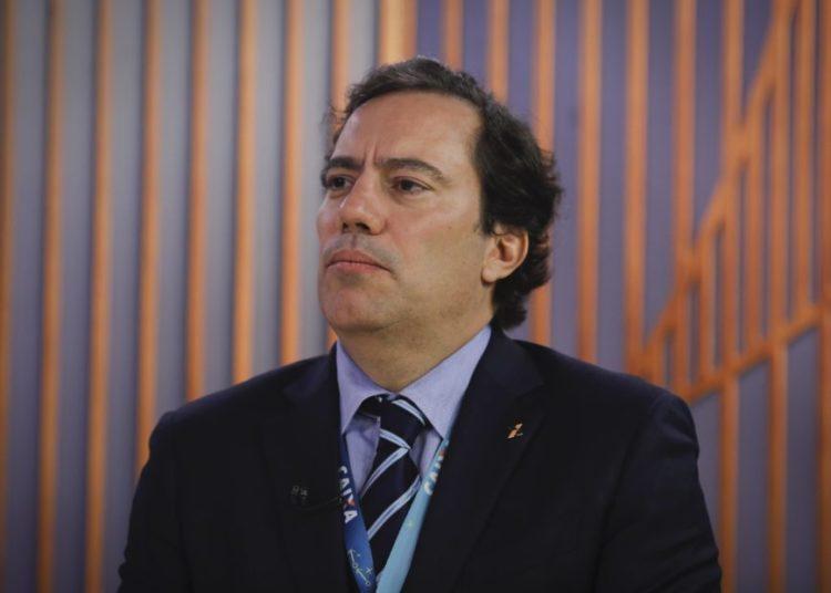Poder em Foco com Fernando Rodrigues em parceria editorial do Poder 360 com o SBT, entrevista  com o presidente da Caixa Economica Federal CEF, Pedro Guimarães.   Sérgio Lima/Poder360 03.04.2020