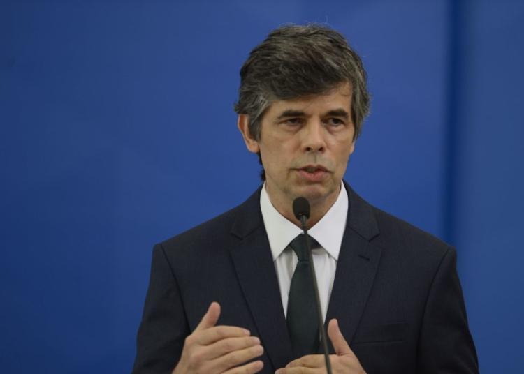 O ministro da Saúde, Nelson Teich,  durante solenidade de posse no Palácio do Planalto