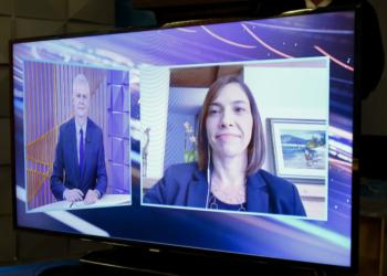 Márjori Dulcine, diretora medica da Pfizer do Brasil é a entrevistada do Poder em Foco, programa semanal realizado por meio de parceria editorial entre SBT e Poder360 que vai ao ar por volta da meia-noite. Sérgio Lima/Poder360 21Mai2020
