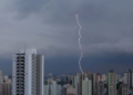 FILE PHOTO: General view as lightning strikes over Sao Paulo and part of the city of Sao Bernardo, Brazil January 26, 2019. REUTERS/Amanda Perobelli/File Photo