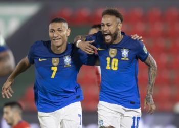 Brasil x Paraguai no Defensores del Chaco em Assunção Créditos: Lucas Figueiredo/CBF