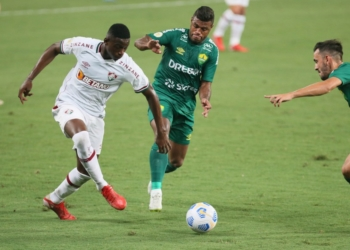 Na Arena Pantanal, Cuiabá e Fluminense se enfrentaram pela 21ª rodada do Brasileirão Assaí Créditos: Gil Gomes/AGIF